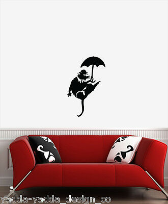 WALL - White Collar Rat - Wall Vinyl Decal (13