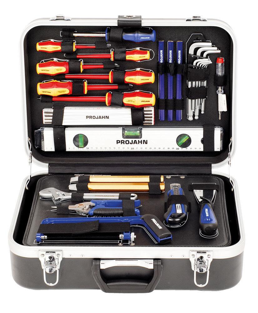 Projahn Werkzeugkoffer Elektro mit Werkzeug für Elektriker 128-tlg abschließbar