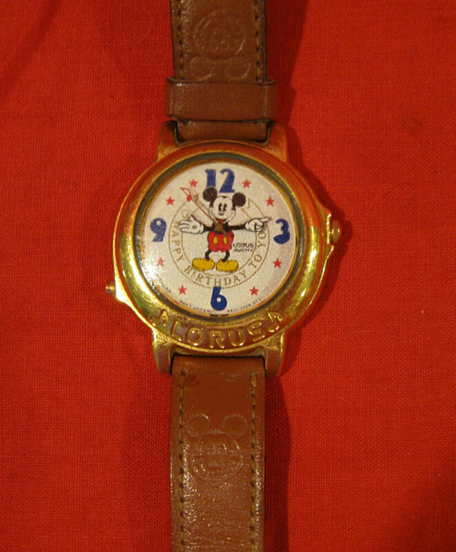 LORUS DISNEY MUSICAL MICKEY MOUSE WATCH WORKING PLAYS HAPPY BIRTHDAY