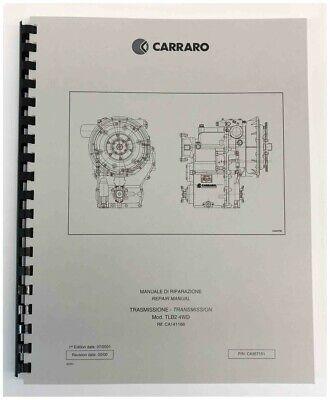 Carraro Tlb2 Transmission Repair Manual Pettibone Forklift