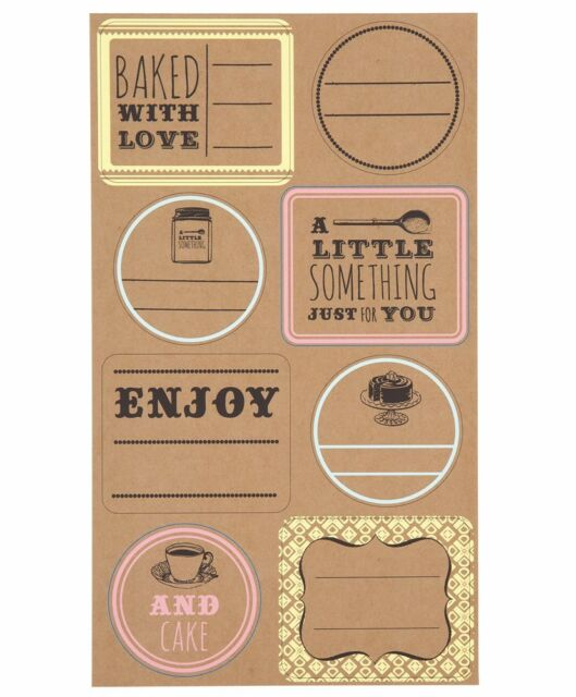 Talking Tables 48 Rustic Style Food Gift Sticky Labels Homemade Jam Cake Cookie