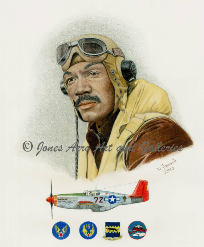 "Lee Archer ""Tuskegee Airmen"" Giclee & Iris Art Prints by artist Willie Jones Jr."