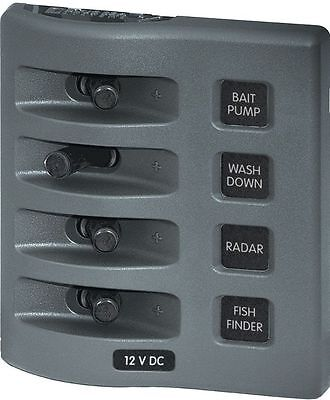 Blue Sea 4309 WeatherDeck/Proof Electric 4 Switch Panel 45A 12V Boat Marine - Blue Sea Electrical Panels