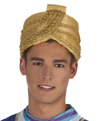 Turban Hut Sultan Kostüm-Zubehör Orient 1001 Nacht Maharadscha Bollywood - Turban Kostüm