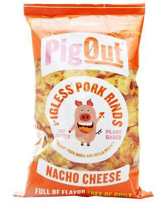 Outstanding Foods - Pigout Pigless Pork Rinds Nacho Cheese - 3.5 Oz.