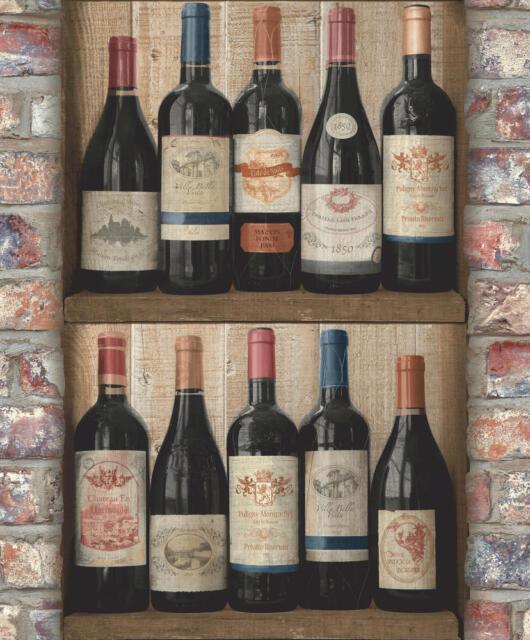 Tapete Grandeco EW 3901 Weinflaschen / Weinregal Exposed Warehouse / EUR 2,81/qm