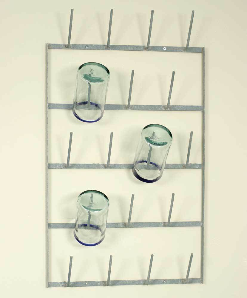 Country new hanging wine bottle drying rack /