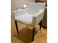 Two very comfortable armchairs (white)