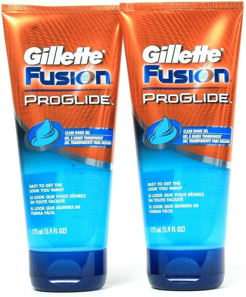 Gillette Fusion ProGlide Shave Gel, Clear, 5.9 Ounce