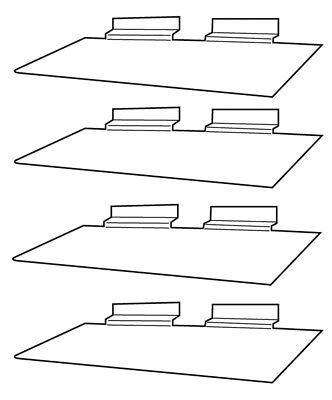 Clear Slatwall Shelves 4 X 10 Set Of 4 Retail Display