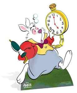 The White Rabbit Alice in Wonderland LIFESIZE CARDBOARD CUTOUT standee Disney