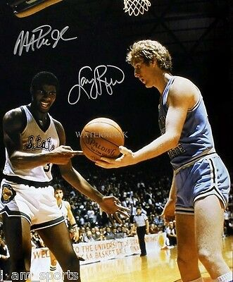 1979 MAGIC JOHNSON MICHIGAN STATE vs LARRY BIRD INDIANA SIGNED 8x10 REPRINT RP