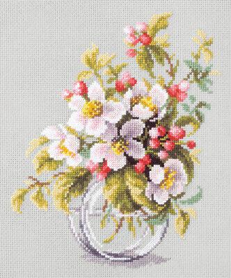 Magic Needle / Blooming Apple Tree 18x23 cm, 100-011 / Cross Stitch Kit