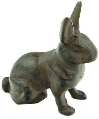 e2e Rustic Cast Iron Rabbit Bunny Hare Garden Home Ornament Decoration Decor