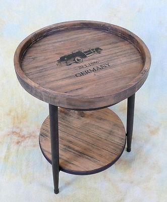 Beistelltisch Nachttisch rund Holz Couchtisch Ablage Tabletttisch Tisch E16014-a