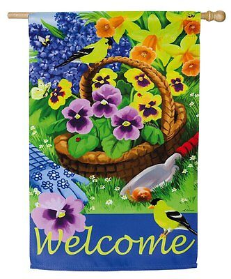 - Evergreen Enterprises, Inc Pansies for Planting Vertical Flag