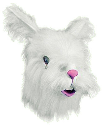 Adult Furry White Rabbit Mask Animal Halloween Costumes - Furry Masks