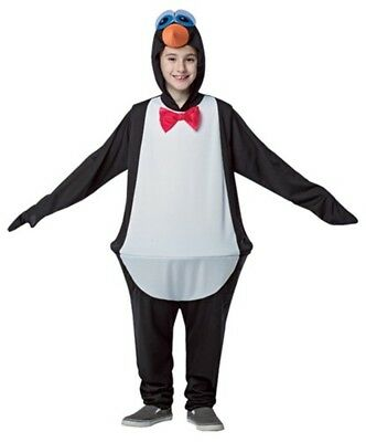 Penguin Hoopster Halloween Costume Child Funny Black White Happy Feet Jumpsuit - Penguin Costumes Kids