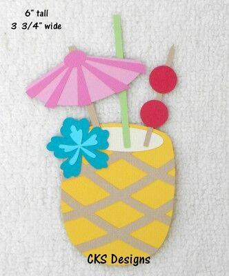 Die Cut PINEAPPLE Drink Hawaiian Island Tropical Luau Scrapbook Paper Piecing (Luau Crafts)