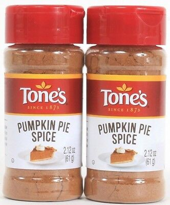 2 Tones Pumpkin Pie Spice Quality Freshness Value 2.12 oz Best By