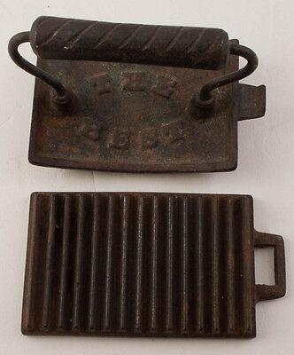 ANTIQUE 1800'S Cast Iron Fluter Crimper Hand Roller THE BEST
