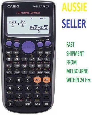 CASIO FX 82ES FX82ES FX-82ES Plus Scientific Calculator BK BLACK NEW genuine