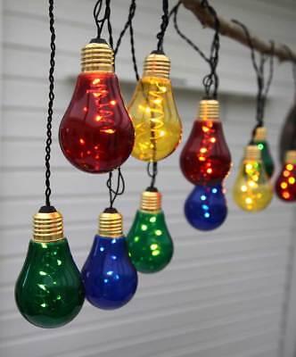 LED Lichterkette bunte Birnen 5x10 LEDs ca. 3,6m für Außen Partybeleuchtung ()