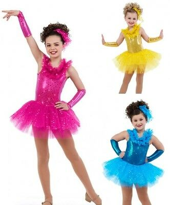 Glam Dance Costume Sequin Ballet Tutu Tap Clearance Dress Color & Size Choice