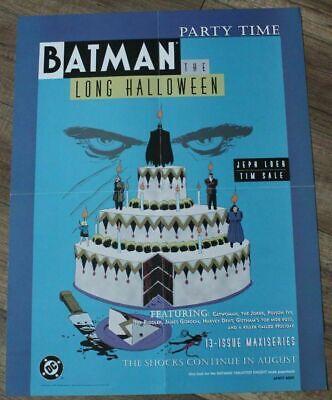 Batman Long Halloween 1997 Jeph Loeb Tim Sale Party Time DC PROMO Poster VF](Promo Halloween Party)