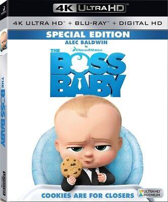 The Boss Baby  4K Ultrahd  Blu Ray  2017  Digital  New