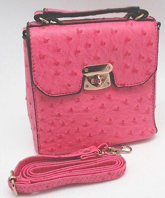 (Simply Noelle Mini Ostrich Cross Body Bag)