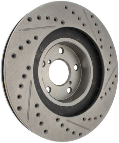 Disc Brake Rotor-Select Sport Drilled//Slotted Rotor Front Left Stoptech