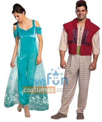 Couples Adult Costumes Aladdin and Jasmine Disney Halloween Mens Womens