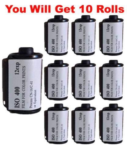 10 Rolls FilmWholesale 400FW 35mm Film 135-12 Color Experimental Expired Test