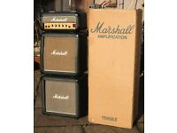 Marshall Lead 12 (3005) Mini Stack A1 condition - 80's Classic - VERY RARE!