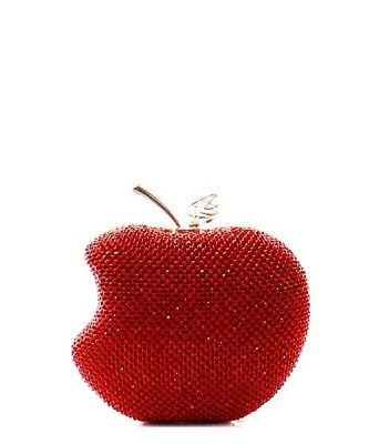 Apple Shaped Rhinestone Embellished Clutch Evening Shoulder Bag Evening Clutch Handbag Shoulder Bag