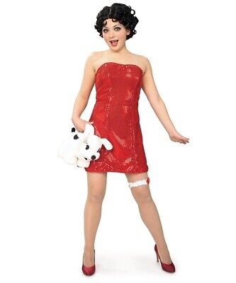 Classic Red Betty Boop Dress - 2 sizes, XS and Small - Costume ](Betty Costume)