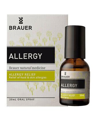 Brauer Allergy Oral Spray 20mL Homeopathic Medicine for Alle