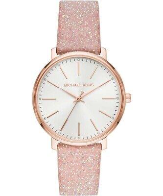 Michael Kors Ladies Pyper Rose Gold-Tone Crystal Embellished Watch  - MK2884