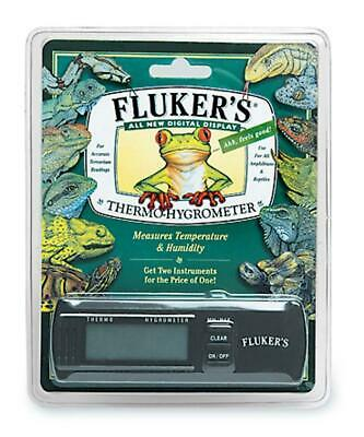 Fluker's Digital Thermo-Hygrometer Humidty & Temperature Terrarium Gauge NEW