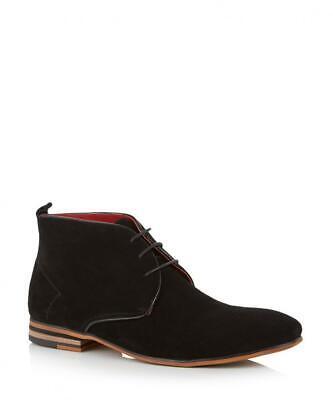 Men's Justin Reece Boots Suede Desert Style Black Sz 9uk