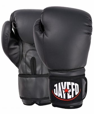 BEGINNERS LEATHER BOXING GLOVES SPARRING GLOVES MUAY THAI KICK BOXING MMA GLOVES ()