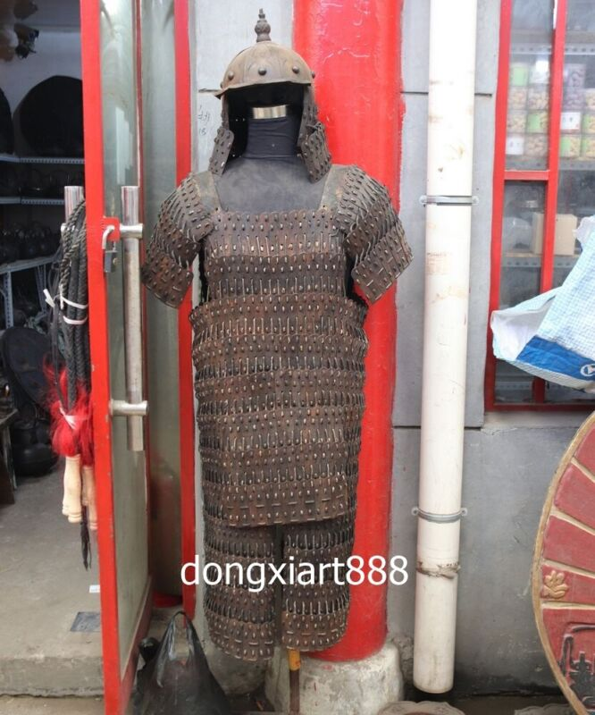 iron Handwork weave Chinese ancient times warfare soldier warrior Armor helmet