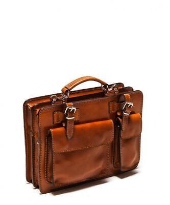 Isabella Rhea Bronze Leather Pocket Satchel Bag