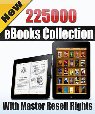 225000 eBooks pdf Package Collection With Resell Rights free shipping