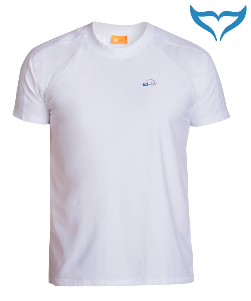 iQ UV 300 Shirt Loose Fit Men Herren S - 4XL white weiss Schutz Bekleidung Short