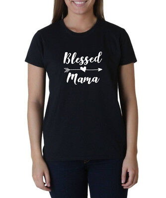 Blessed Mama Shirt Mommy T-shirt Gift Mothers Day Mom Life Arrow Heart Christmas - Blessed Day