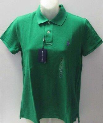 SALE NWT Ralph Lauren Classic Polo Shirt Short Sleeve Mesh Green Size (Polo Ralph Lauren Sale Womens)