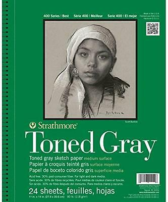 """Strathmore 412-111 400 Series Toned Gray Sketch Pad, 11""""x14"""""""