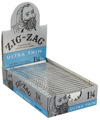 24PK DISPLAY - Zig Zag Ultra Thin 1 1/4 Rolling (Zig Zag 1 1 4 Rolling Papers)